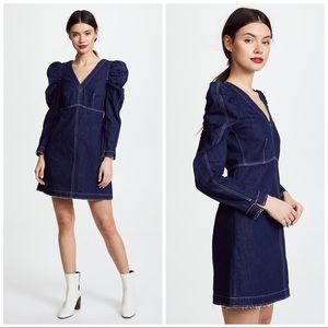 ✨NWT✨Rebecca Taylor Long Sleeve Denim V-Neck Dress